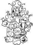 cute,monster,doodle,character,cartoon