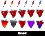 lightning,heart,love,red,shiny,bolt,valentine day,electric,bold,valentine,day