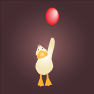 duck,balloon,cute,graphic,kid,child,cartoon,red balloon