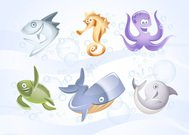 sea,marine,whale,turtle,dolphin,octopus,fish,sea horse