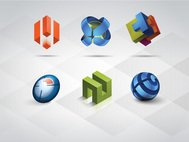 3d,technology,business,communication,modern,logo