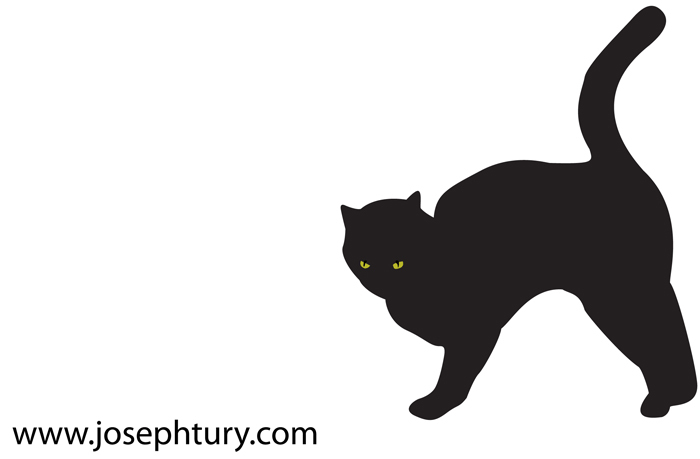 black cat silhouette vector - Black Cat Silhouette Halloween