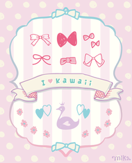 doodle,cute,label,ribbon,flower,girl
