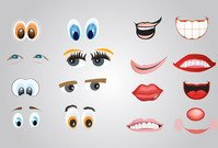 cartoon,character,element,eye,face,mouth,smile,lash,nose,sight,element,eye,cartoon