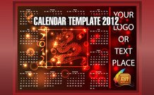 calendar,dragon,template,red,year,of,new,celebration,festivity,creature,ad,logo,element,the,festivity,ad,design,element,dragon,2012