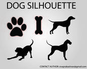 animal,bone,dog,pet,silhouette,k 9,dog silhouette