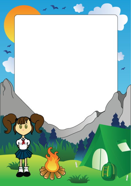 Girl Scout Camping Clipart Girl Scout Vector clip...