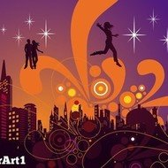 city,night,swirl,abstract,building,skyline,people,dancing,life,music,background,wallpaper,element,star,starry,light,lighting,effect,architecture,backdrop,business,cityscape,art,computer,contour,destination,drawing,illustration,lake,metropolis,animals,backgrounds & banners,buildings,christmas,fantasy