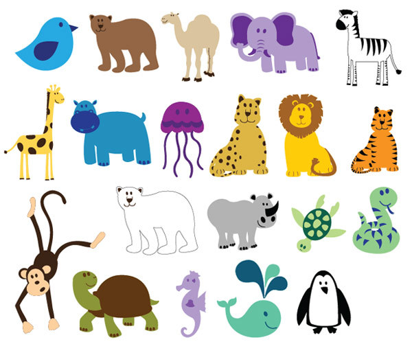 Colorful Animals Clipart Graphic Free Clipart Image