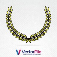wreath,vector,object,leaf,leaf,basil,honor,design,element,illustration,object,leaf,element