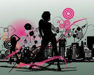 abstract,background,city,disco,lazy,random,scene,music,girl,lady,skyline,free,vector