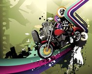 abstract,background,city,dark night,motor cycle,road,skull,colorful,illustration,motion,graphic,city,colorful,illustration,motion,vector,graphic