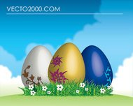 easter,egg,grass,green,landscape,sky,happy,background,sky,grass