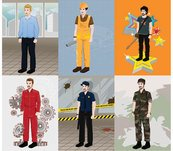 architecture,artist,director,guitarist,mechanic,policemen,security