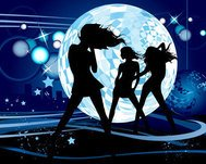 abstract,background,dance,disco ball,girl,holiday,night,party,people