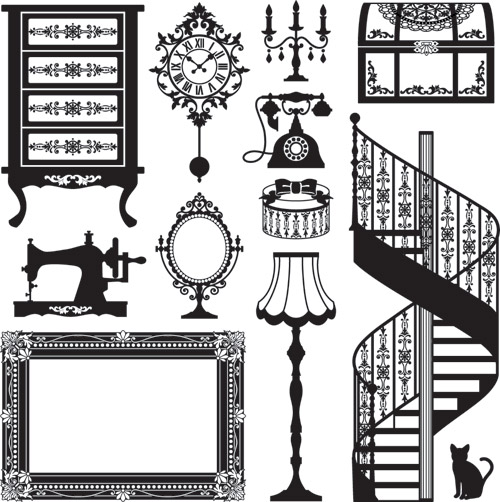 Antique Furniture Clip Art