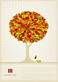 auntumn,colorful,colourful,nature,red-orange,template,text,tree