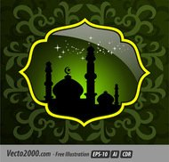 artwork,background,eid mubarak,green,islamic,mosque,ramadan kareem