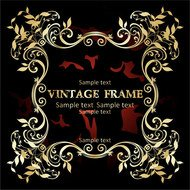 background,black,frame,gold,red,vintage