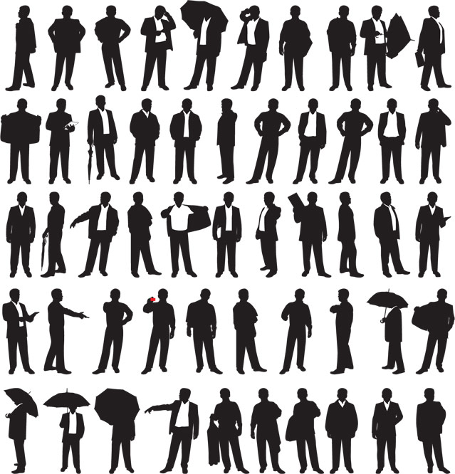 Crowd Of Indian Women Vector Avatars Stock Vector: Business Men Silhouettes. 클립 예술, 무료 클립 아트