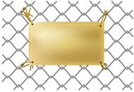 background,blank,drawning,empty,gold,grate,illustration,isolated,metal,plate,sign,tablet,template,warning,wire