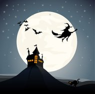 background,bat,cartoon,castle,halloween,hill,horror,house,invitation,mansion,moon,night,pumpkin,silhouette,spooky,vampire,witch