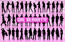 art,character,collection,eps10,girl,illustration,lady,people,pose,silhouette,woman