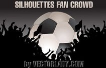art,ball,black,crowd,fan,flag,football,goal,illustration,league,people,silhouette,vector