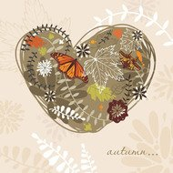 abstractfloral,autumn,background,butterfly,heart,leaf,retro