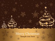 background,brown,card,christmas,greeting,illustration,merry,snow,snowflake,tree,x-mas