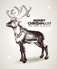 abstract,animal,background,card,christmas,deer,drawn,greeting,hand,happy,holiday,illustration,merry,new,season,year