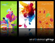 abstract,background,business card,color,colorful,floral,retro,set,swirl