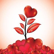card,greeting,greeting card,heart,leaf,love,poster design,season,valendines,valentine's day