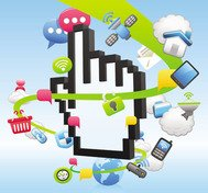 business,collection,concept,hand,handphone,pixel,shop,shpping,social media,vector icon