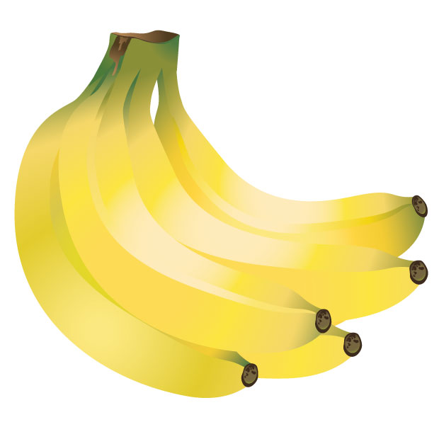 Banana vector. Bananas graphic clip arts