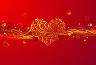 abstract,background,day,gold,love,red,valentine