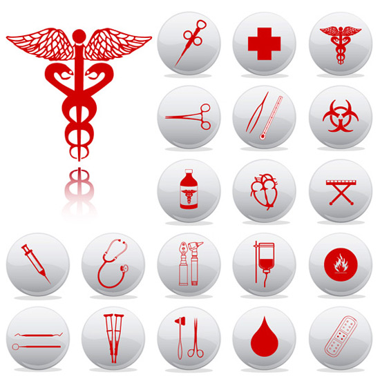 Medical equipment icon set clip arts free clipart