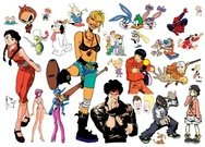character,cartoon,manga,spiderman,looney toons,beavies & butthead,supersonics,character,cartoon,supersonics