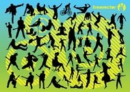 active,athletics,bicycle,bike,fly,girl,guitar,jogging,jump,leisure,man,music,play,pop,rock,run,sexy,silhouette,sit