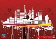 architecture,background,building,business,city,life,cityscape,contemporary,downtown,flyer,graphic,graphics,grunge,illustration,illustrator,office,ornate,red,silhouette,skyline,skyscraper,splatter,symbol,tower,urban,scene,art