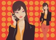 cartoon,girl,lady,office,on,phone,talking,business,woman,cartoon