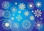blue,christmas,cold,cool,flake,frost,frozen,new,year,season,snowflake,star,symbol,shape,white,winter
