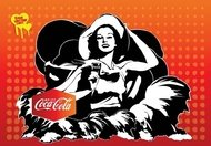 coca-cola,girl,coke,poster,enjoy,happiness,refreshing,retro,summer,vintage,woman,advertisement,card,coca-cola ad,glass,hat,old vintage,pop art,young girl