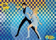 60,dancing,elvis,presley,film,movie,poster,nancy,sinatra,nascar,racing,retro,sixties,speedway