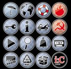 icon,umbrella,world,lifesaver,flame,key,info,breakdown,truck,hammer,sickle,play,search,alarm,music,tape,ciak,pvc,box,and