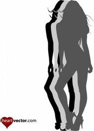 girl,pin-up,silhouette,lady