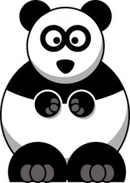 studiofibonacci,cartoon,panda,remix,bear,china,clip art,media,public domain,image,png,svg
