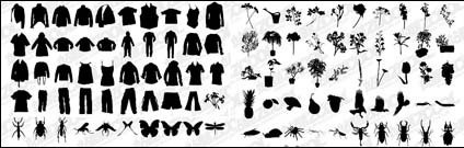 shirt,pant,flower,plant,insect,material
