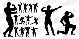 bodybuilding,action,figure,silhouette,material,body,building