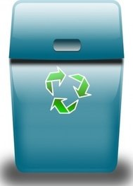 ronoaldo,blue,trash,can,bin,icon,colour,media,clip art,public domain,image,png,svg